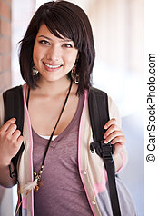 Mixed race college student - A portrait of a mixed race ...