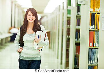 Mixed race ollege student
