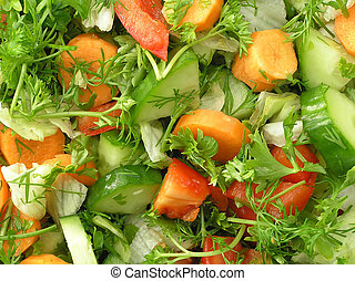 Mixed salad as a background