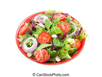 mixed salad in a bowl