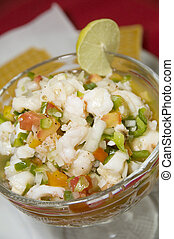 mixed seafood ceviche Nicaragua