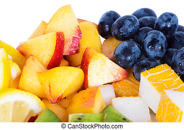 Mixed slice of fruit