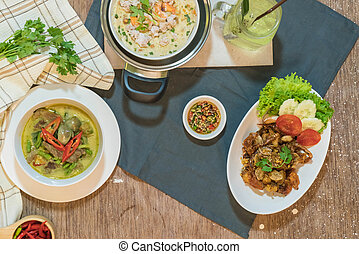 mixed thai traditional food