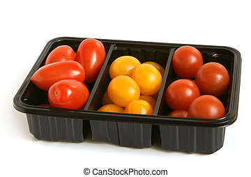 Mixed tomatoes in box