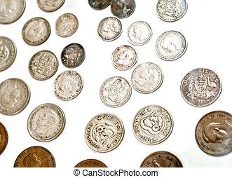 Mixed vintage Australian coins