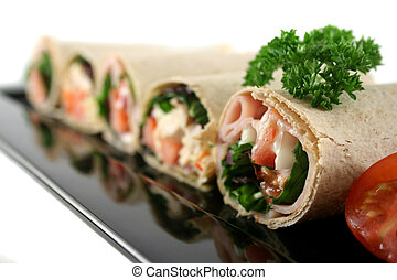 Mixed Wrap Platter 3 - Mixed platter of delicious ham and...