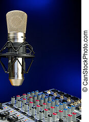 Mixer and Vocal Mic - Music Production, Audio Mixer and...