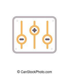 mixer color line icon
