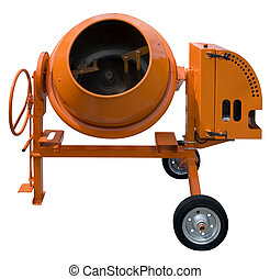 Mixer - Concrete mixer isolated with clipping path