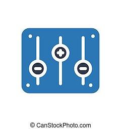 mixer  glyph color icon