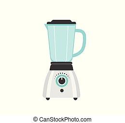 mixer, icône, vecteur, illustration