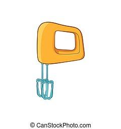 Mixer icon, cartoon style