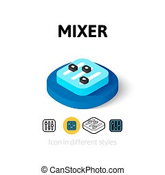 Mixer icon in different style