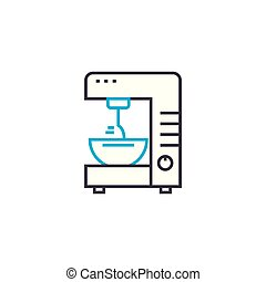 Mixer linear icon concept. Mixer line vector sign, symbol, illustration.