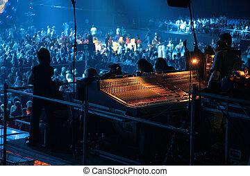 mixer, op, concert