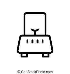 mixer  thin line icon