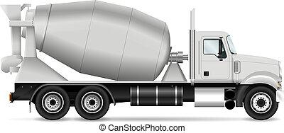 Mixer truck vector illustration