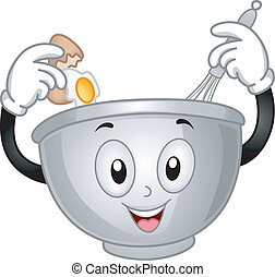Mixing Bowl Mascot - Mascot Illustration of a Mixing Bowl ...