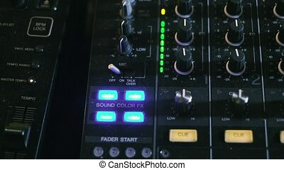 Mixing console also called audio mixer, sound board, mixing deck or mixer is an electronic device 4k