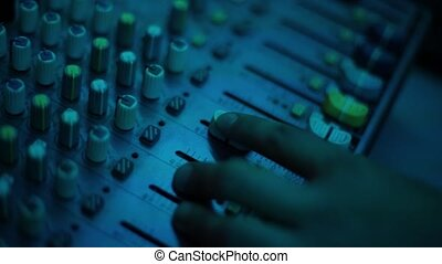 Mixing console also called audio mixer, sound board, mixing deck or mixer is an electronic device.