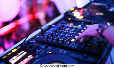 Mixing console at the night club