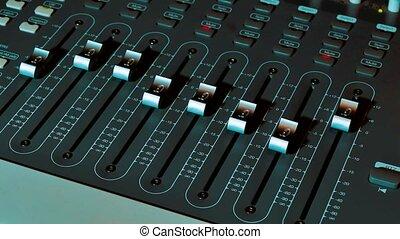 Mixing Music audio Concept Studio. music, technology people...