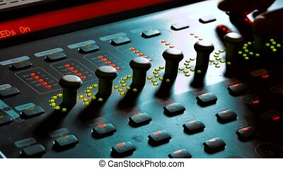 Mixing Music audio Concept Studio. music, technology people...