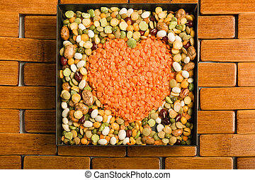 Mixture of dried pulses
