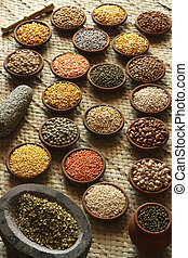 Mixture of dal recipes are prepared quite simply. The standard preparation of dal begins with boiling a variety of dal (or a mix) in water with some turmeric, salting to taste, and then adding a tadka (also known as tarka, chaunk or baghaar) at the end of the cooking process
