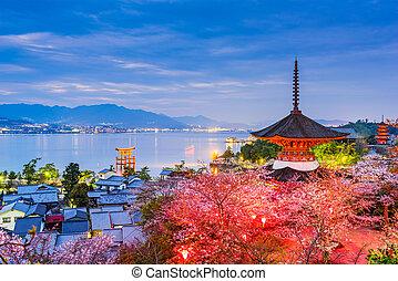 Miyajima, Hiroshima in Spring - Miyajima Island, Hiroshima,...