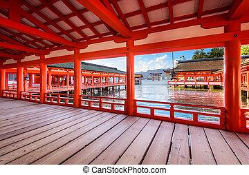Itsukushima Shrine, Hiroshima, Japan.