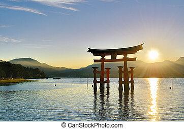 Miyajima Tori Gate - The otori gate which welcomes visitors...