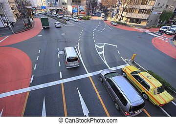 Miyamasuzaka-Ue crossing in Aoyama Street