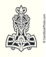 Mjollnir Thor's hammer is an amulet of Vikings. A symbol of...
