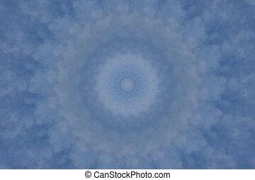 mjuk, blå, mandala, bakgrund