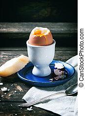 mjuk kokt ägg