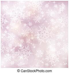 mjuk, och, suddiga, vinter, jul, p