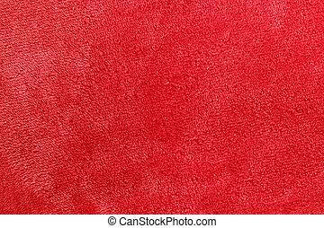 mjuk, röd, mikro, ull, filt, bakgrund