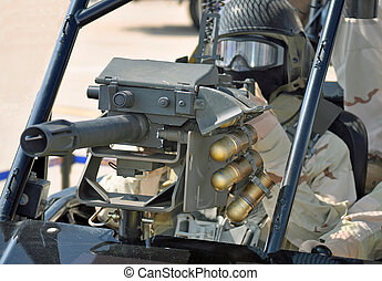 MK19 Grenade Launcher - A 40mm Grenade Launcher on a Desert...