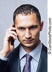 mládě, člověk obchodního ducha, pouití, cela telefonovat