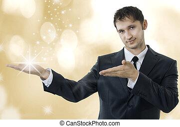 mláde dospělý, kouzelnictví, člověk obchodního ducha