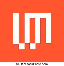 ML Logo Concept Design. AI 10 Supported.