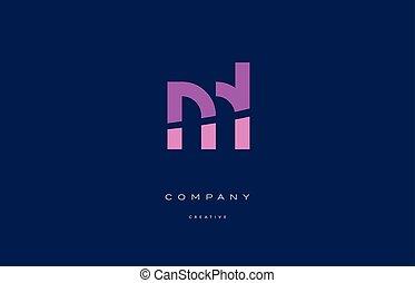 ml m l pink blue alphabet letter logo icon - ml m l pink...
