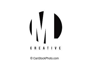 ML M L White Letter Logo Design with Circle Background. - ML...