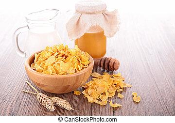 mleczny, corn-fleksy