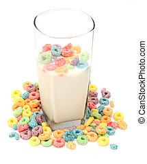mleczny, zboże, filiżanka