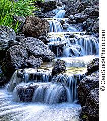 mlhavý, vodopád