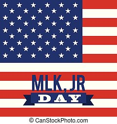 mlk jr day greeting card usa flag symbol