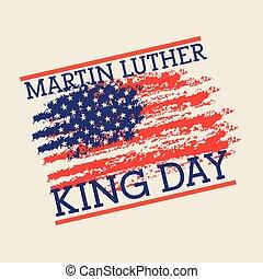 mlk jr day poster painting usa flag symbol