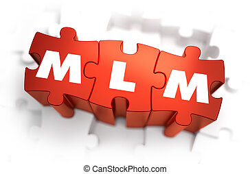 MLM - White Word on Red Puzzles. - MLM - Multi Level...